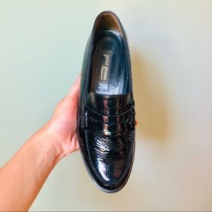 Paul Green Múnchen | Patent Black Leather Loafers